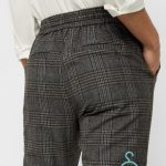 VMEVA MR LOOSE STRING CHECKED PANT COLOR