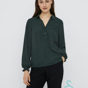 VMBOA L/S V-NECK TOP WVN GA BF