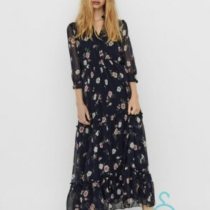 VMTALLIE 3/4 FLOUNCE ANKLE DRESS EXP